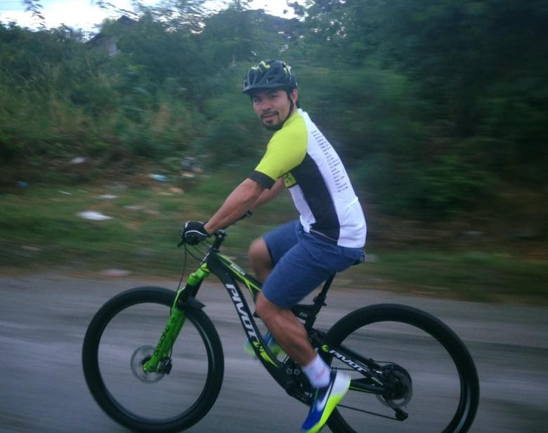 Manny Pacquiao cycling pic  by Jerome Morales